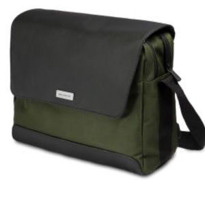 MOLESKINE Nomad Messenger Laptop Bag Green Black